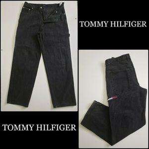 Tommy Hilfiger Men Denim Black Carpenter Jeans 34